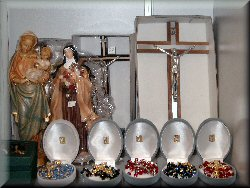 ... prayer books, medallions, rosaries,...